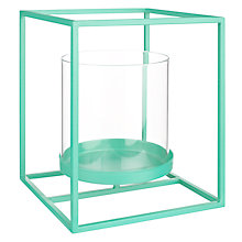 Buy House by John Lewis Pillar Candle Holder, Mint Online at johnlewis.com