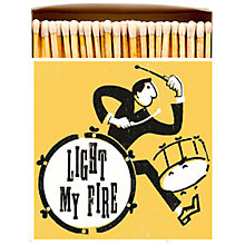 Buy Archivist Light My Fire Luxury Long Matches, Yellow Online at johnlewis.com