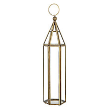 Buy John Lewis Tall Gold Trim Hanging Tealight Holder Online at johnlewis.com