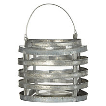 Buy John Lewis Zinc Lantern, Large Online at johnlewis.com