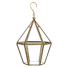 Buy John Lewis Gold Trim Hanging Tealight Holder Online at johnlewis.com