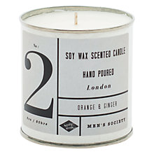 Buy Men's Society Orange and Ginger Tin Candle Online at johnlewis.com