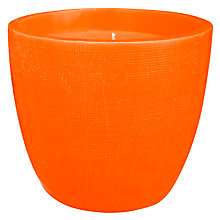 Buy House by John Lewis Bowl Candle, Tangerine Online at johnlewis.com
