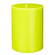 Buy House by John Lewis Pillar Candle, Zest Online at johnlewis.com