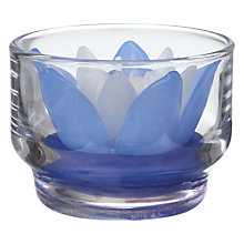 Buy Blooming Bliss Rose Candle In Votive, Blue Online at johnlewis.com