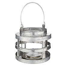 Buy John Lewis Zinc Lantern, Small Online at johnlewis.com