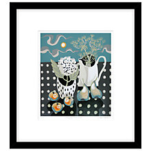 Buy Jane Walker - White Jug with Fruit Framed Linocut, 54 x 60cm Online at johnlewis.com