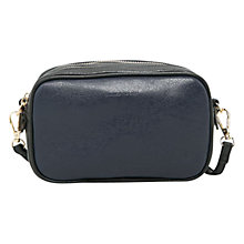 Buy Mango Double Compartment Cross Body Bag, Navy Online at johnlewis.com