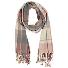 Buy Miss Selfridge Check Scarf, Pink Online at johnlewis.com