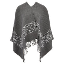 Buy Viyella Oversized Animal Jacquard Wrap Scarf, Grey Online at johnlewis.com