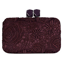 Buy Coast Tessa Lace Bag, Merlot Online at johnlewis.com