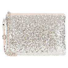 Buy Coast Minae Clutch Bag, Silver Online at johnlewis.com