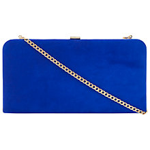 Buy Dune Bemzie Rectangle Clutch Bag, Blue Online at johnlewis.com