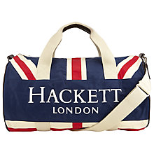 Buy Hackett London Union Jack Duffle Bag, Blue Online at johnlewis.com
