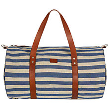 Buy Hackett London Nautical Duffle Bag, Cream/Blue Online at johnlewis.com