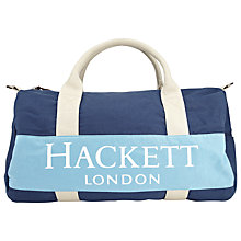 Buy Hackett London Cotton Duffle Bag Online at johnlewis.com