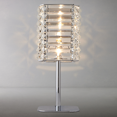 John Lewis Alfonso Square Crystal Touch Table Lamp