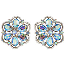 Buy Susan Caplan Vintage 1950s Trifari Earrings, Blue / Silver Online at johnlewis.com