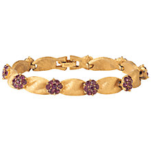 Buy Susan Caplan Vintage 1960s Trifri Flower Bracelet, Gold Online at johnlewis.com