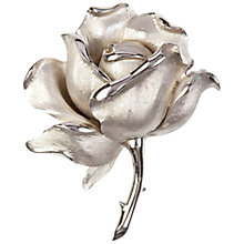 Buy Susan Caplan Vintage 1960s Trifri Blooming Rose Brooch, Silver Online at johnlewis.com