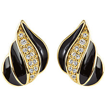 Buy Susan Caplan Vintage 1980s Napier Deco Earrings, Black/Gold Online at johnlewis.com