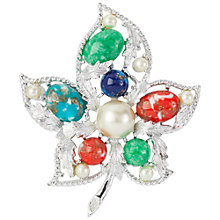 Buy Susan Caplan Vintage 1960s Sarah Coventry Open Leaf Brooch, Multi Online at johnlewis.com