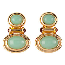 Buy Susan Caplan Vintage 1990s Elizabeth Taylor Earrings, Gold / Green Online at johnlewis.com