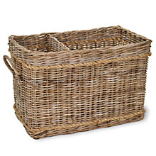 Buy Garden Trading Log Rattan Basket With Rope Online at johnlewis.com