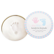 Buy Pearhead Babyprints Round Gift Tin, White Online at johnlewis.com