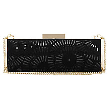 Buy Reiss Cut Work Clutch Bag, Black Online at johnlewis.com