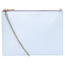 Buy Whistles Rivington Chain Leather Pouch Bag, Lilac Online at johnlewis.com