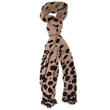 Buy Chesca Spots Scarf, Brown/Mocha Online at johnlewis.com