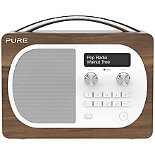 Buy Pure Evoke D4 DAB/FM Bluetooth Radio, Walnut + F1 ChargePAK Online at johnlewis.com