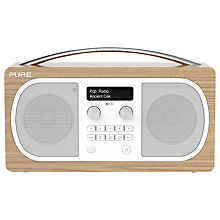 Buy Pure Evoke D6 DAB/FM Bluetooth Radio, Oak Online at johnlewis.com