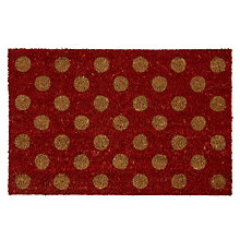 Buy John Lewis Polka Dot Doormat, 40 x 60cm Online at johnlewis.com