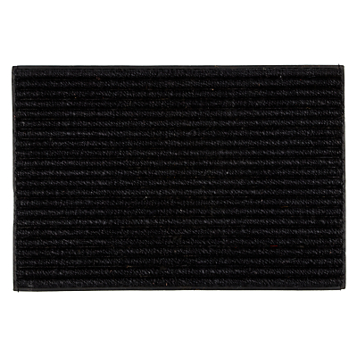 John Lewis Coir Look Door Mat, Black