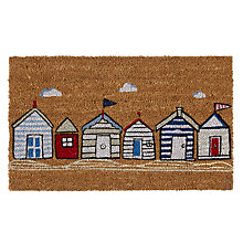 Buy John Lewis New Beach Huts Door Mat, 45 x 75cm Online at johnlewis.com