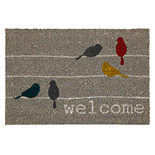 Buy John Lewis Birds on a Wire Door Mat, 40 x 60cm Online at johnlewis.com