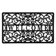 Buy John Lewis Rubber Welcome Doormat, 45 x 75cm Online at johnlewis.com