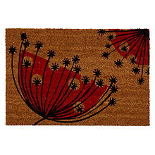Buy MissPrint Dandelions Doormat, 50 x 75cm, Red Online at johnlewis.com
