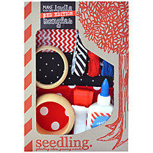 Buy Seedling Make Your Own Indie Bangles Craft Kit, Red Online at johnlewis.com