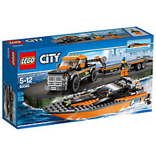 Buy LEGO City 4x4 With Powerboat Online at johnlewis.com