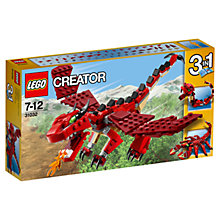 Buy LEGO Creator Red Creatures Online at johnlewis.com
