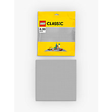 Buy LEGO Classic Large Baseplate, Grey Online at johnlewis.com