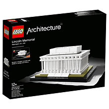Buy LEGO Architecture 21022 Lincoln Memorial Online at johnlewis.com