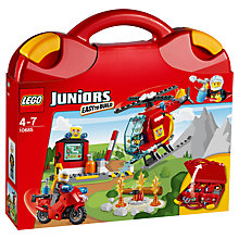 Buy LEGO Juniors Fire Suitcase Online at johnlewis.com