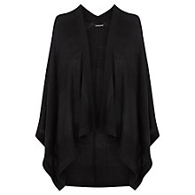 Buy Warehouse Knitted Cape, Black Online at johnlewis.com