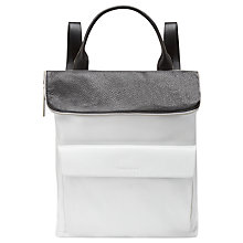 Buy Whistles Verity Large Rucksack, Black/White Online at johnlewis.com
