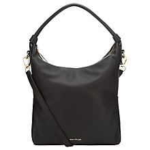 Buy Whistles Belgrave Simple Leather Hobo Bag, Black Online at johnlewis.com