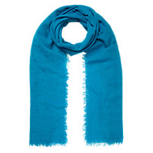 Buy Whistles Fine Gauge Wool Scarf, Teal Online at johnlewis.com